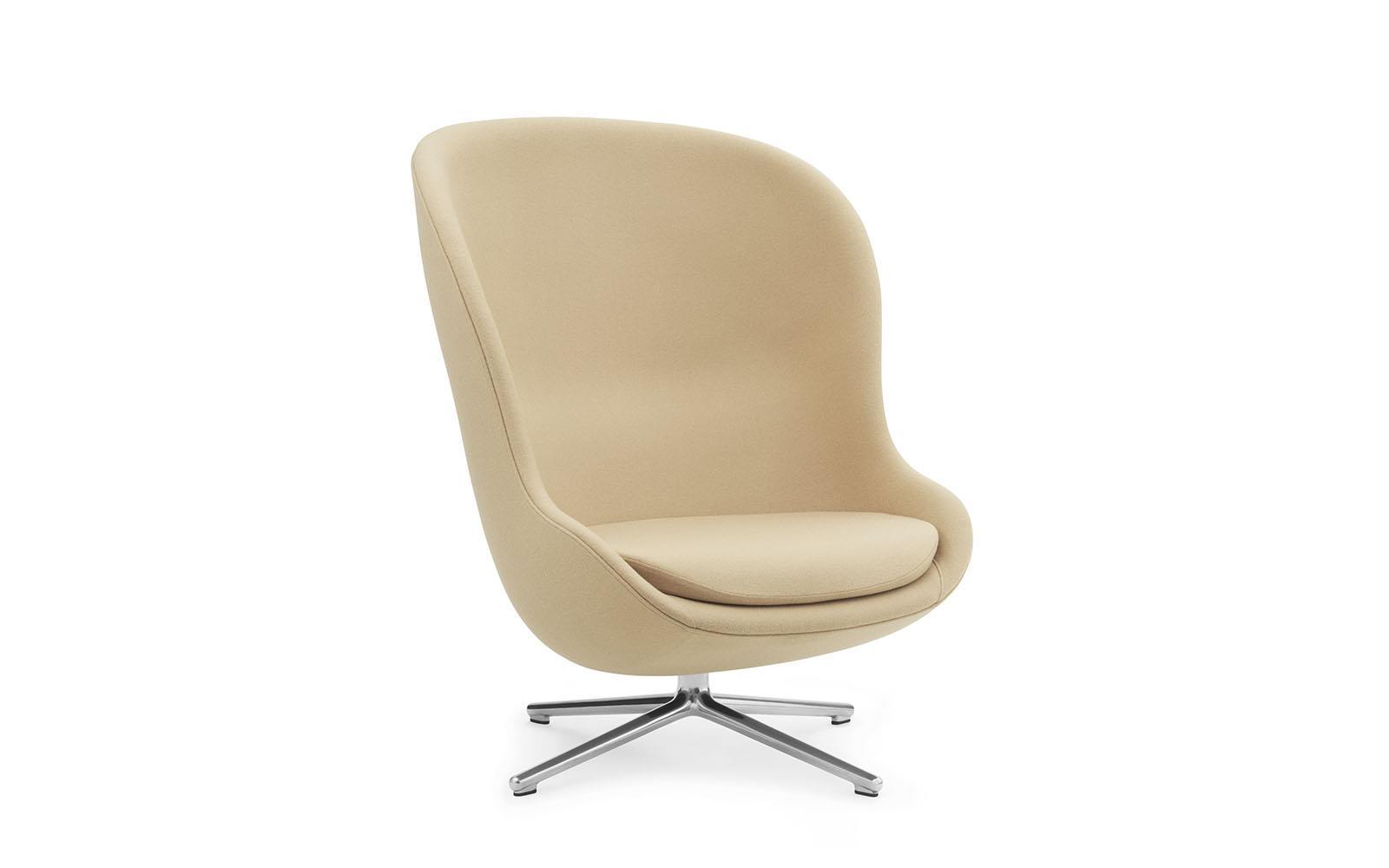 Hyg Lounge-Sessel Hoch mit Drehgestell, Aluminium, Synergy