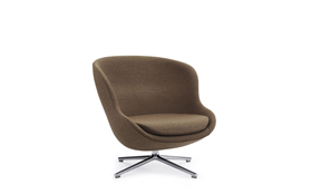 Hyg Lounge Chair Low Swivel Alu1