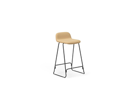 Just Barstool 65 cm w back Full Uph Black Steel1