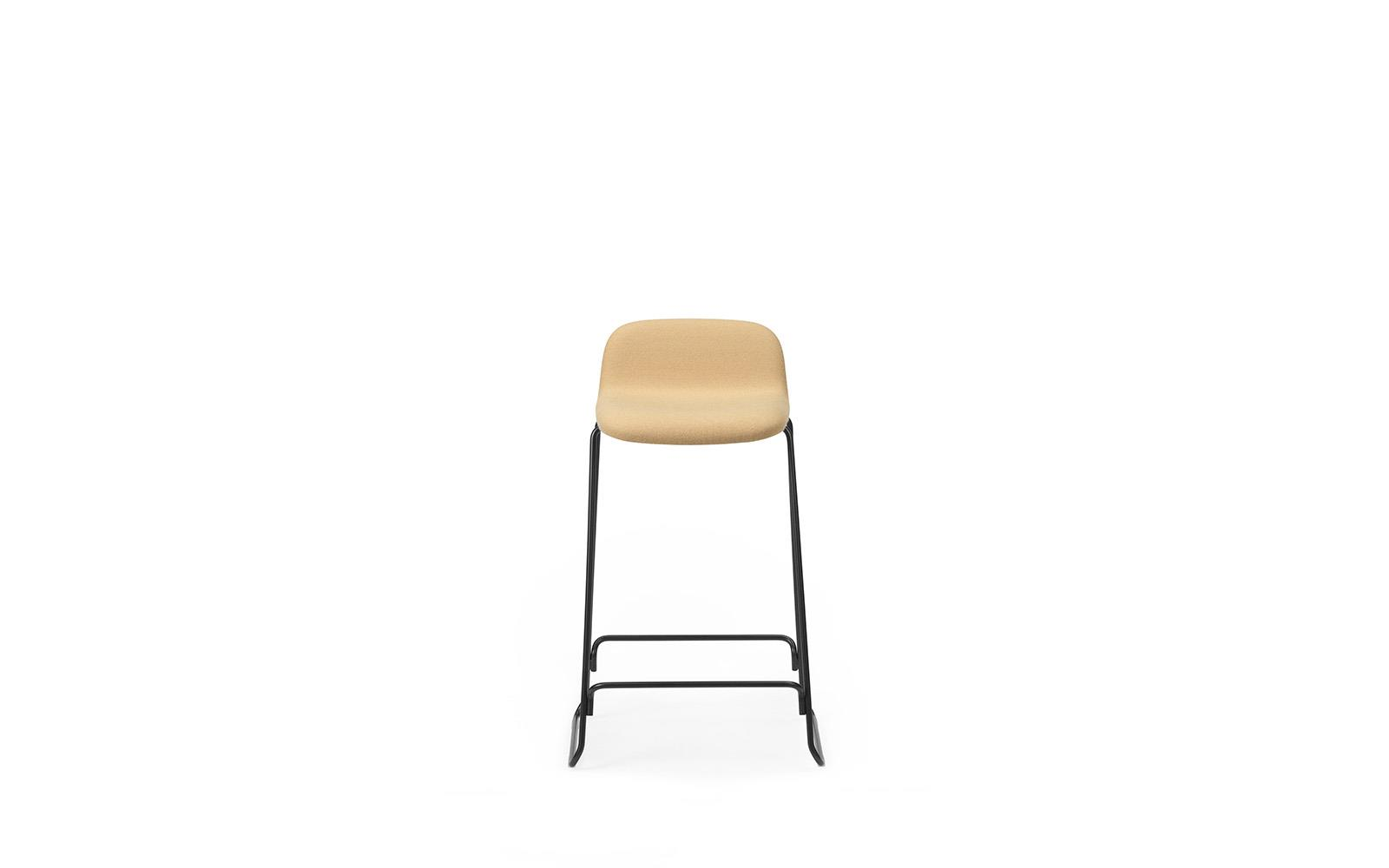 Just Barstool 65 cm w back Full Uph Black Steel2