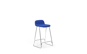 Just Barstool 65 cm w back Full Uph Chrome1