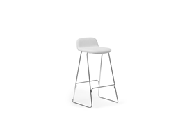 Just Barstool 75 cm w back Full Uph Chrome1