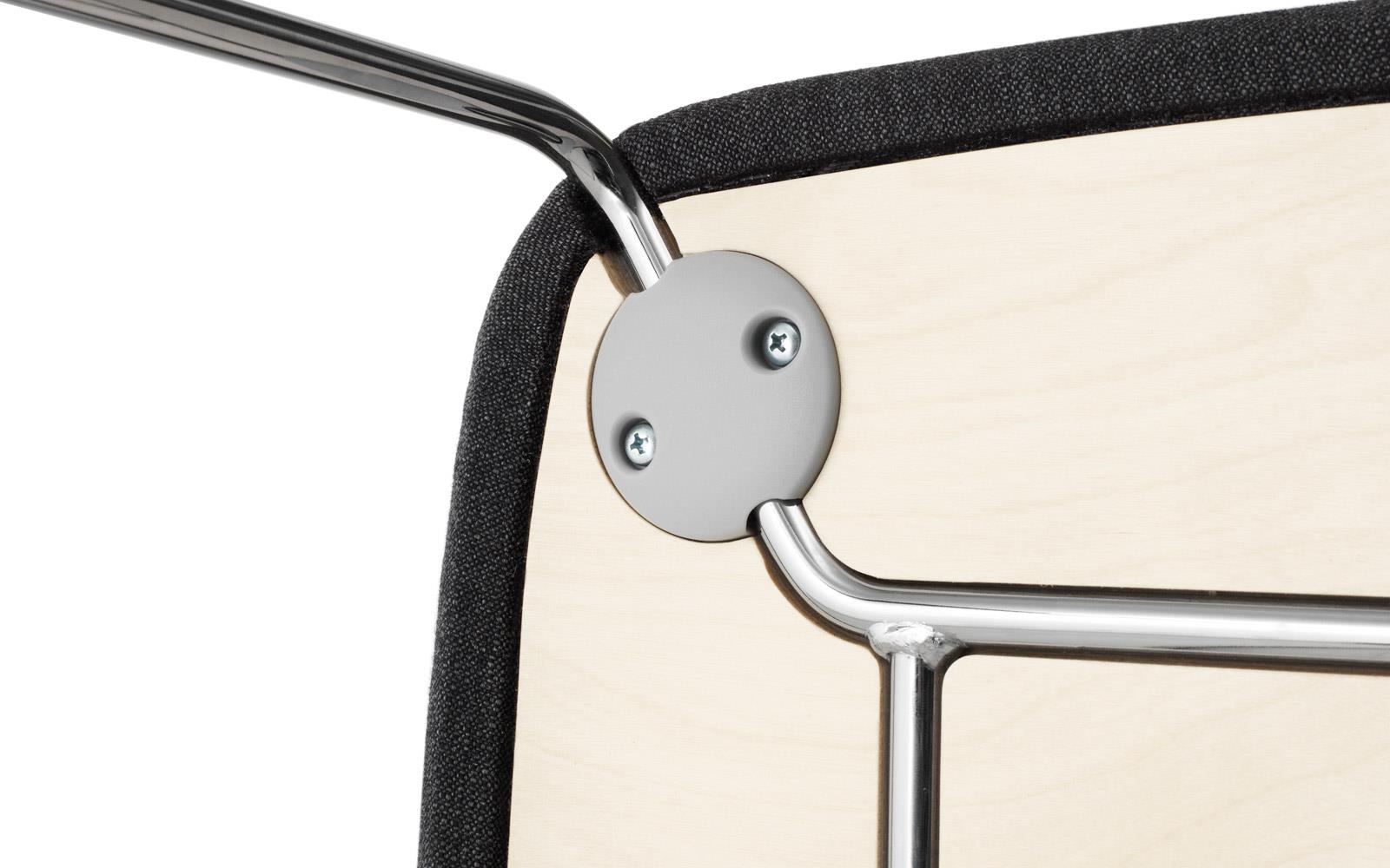 Just Chair Upholstered Chrome2