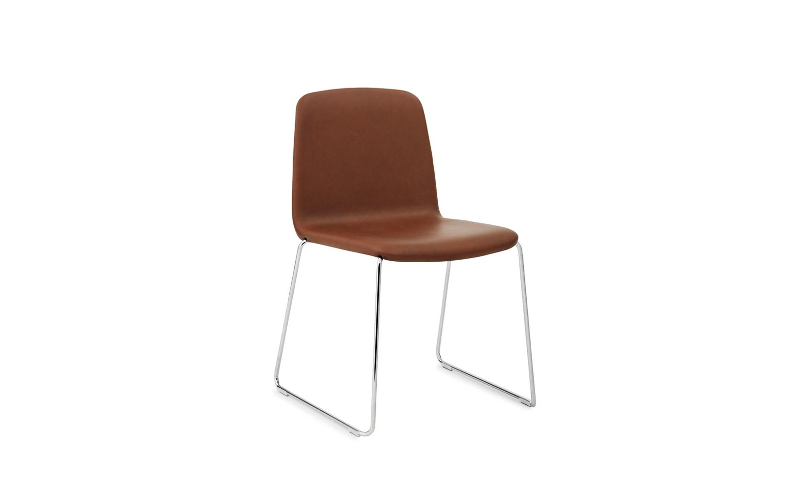 Just Chair Upholstered Chrome Ultra Leather