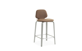 My Chair Barstool 65 cm Full Upholstery Light Grey1