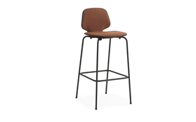 My Chair Barstool 75 cm Front Upholstery Black Steel1