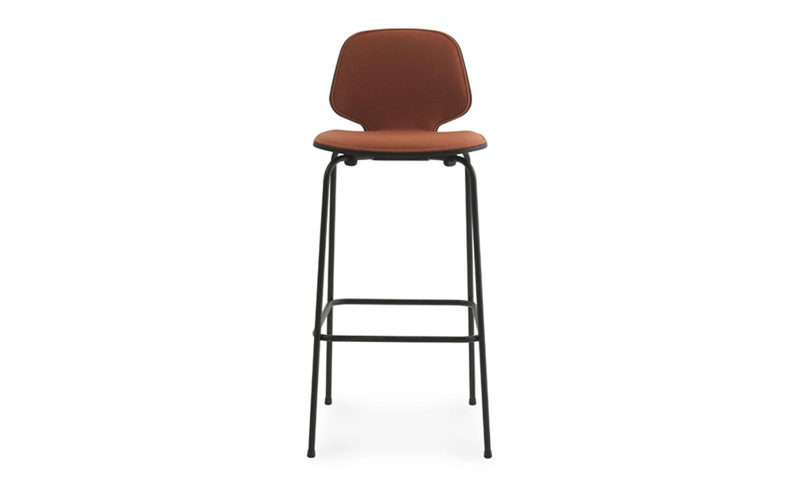 My Chair Barstool 75 cm Front Upholstery Black Steel2