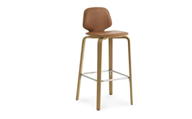My Chair Barstool 75 cm Front Upholstery Walnut1