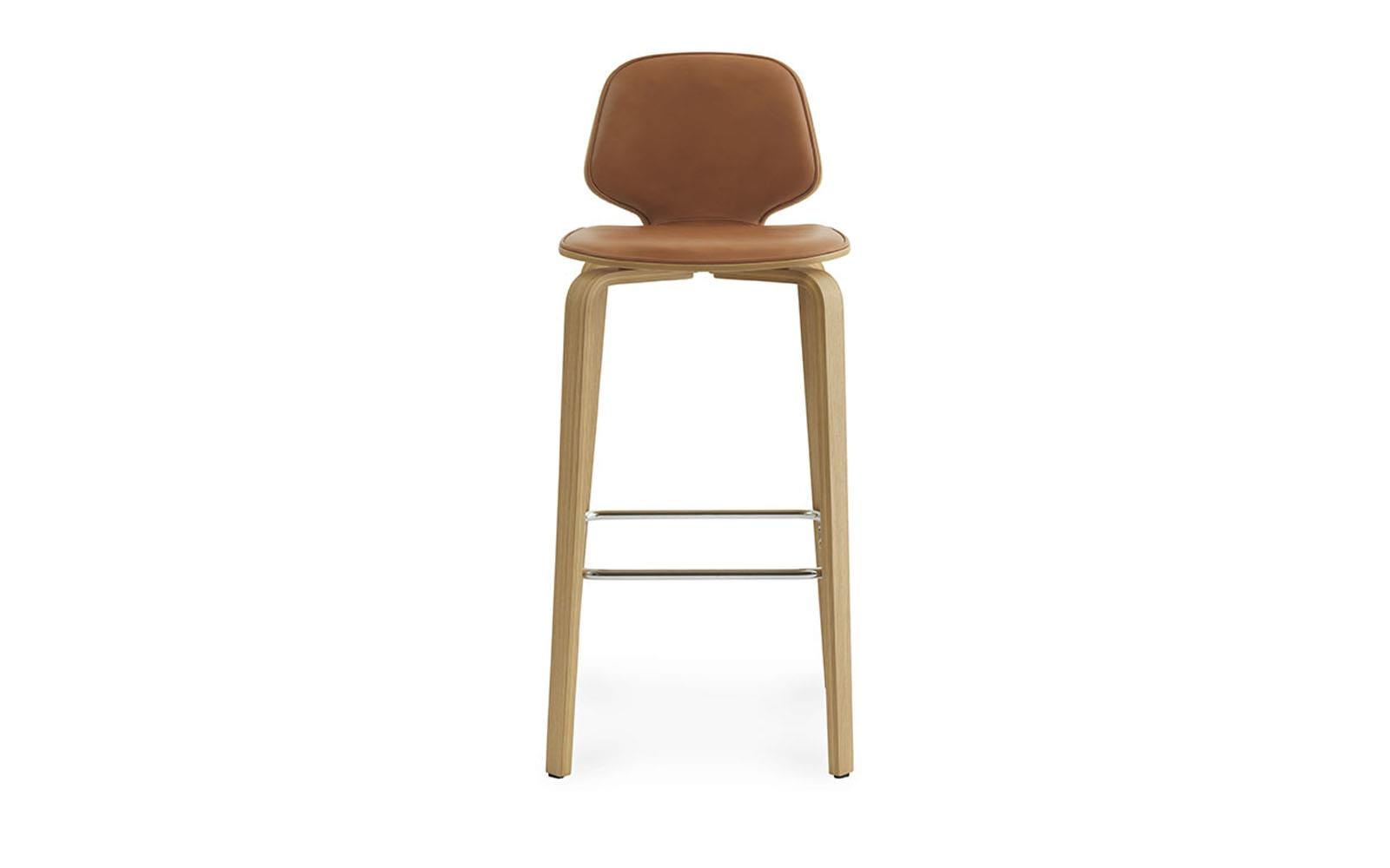My Chair Barstool 75 cm Front Upholstery Walnut2