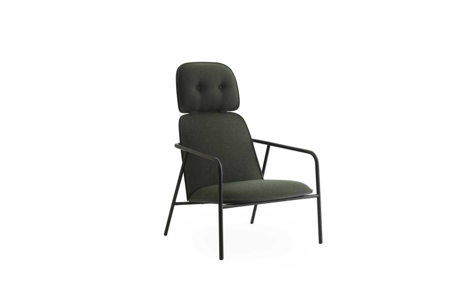 Pad Lounge Chair High Black Steel1
