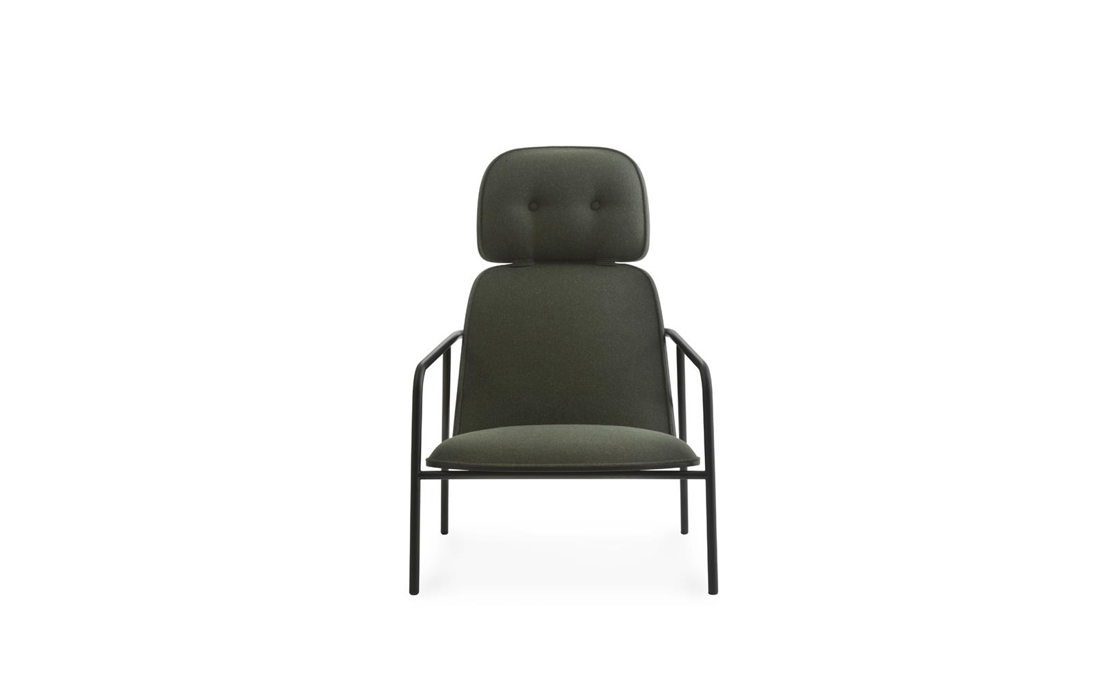 Pad Lounge Chair High Black Steel2