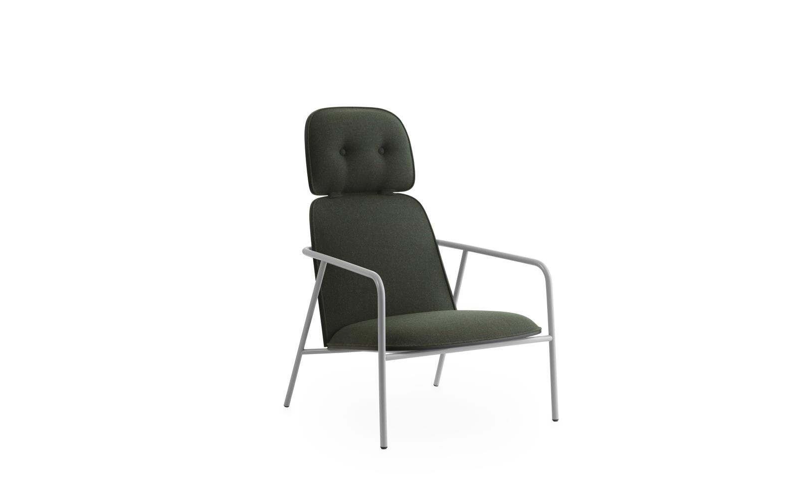Pad Lounge Chair High Grey Steel1