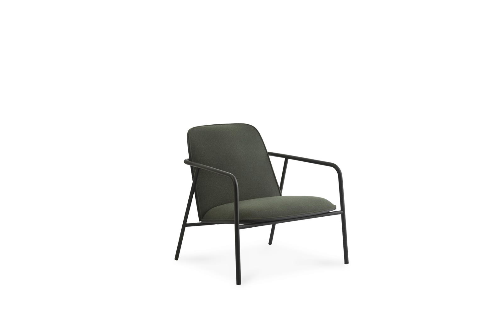 Pad Lounge Chair Low Black Steel1