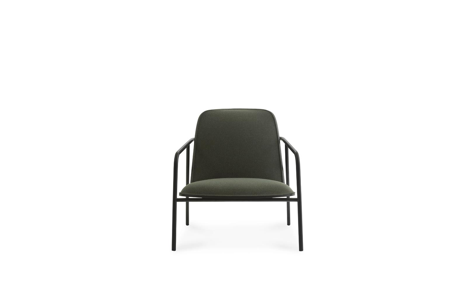 Pad Lounge Chair Low Black Steel2
