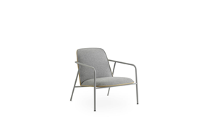 Pad Lounge Chair Low Grey Steel1