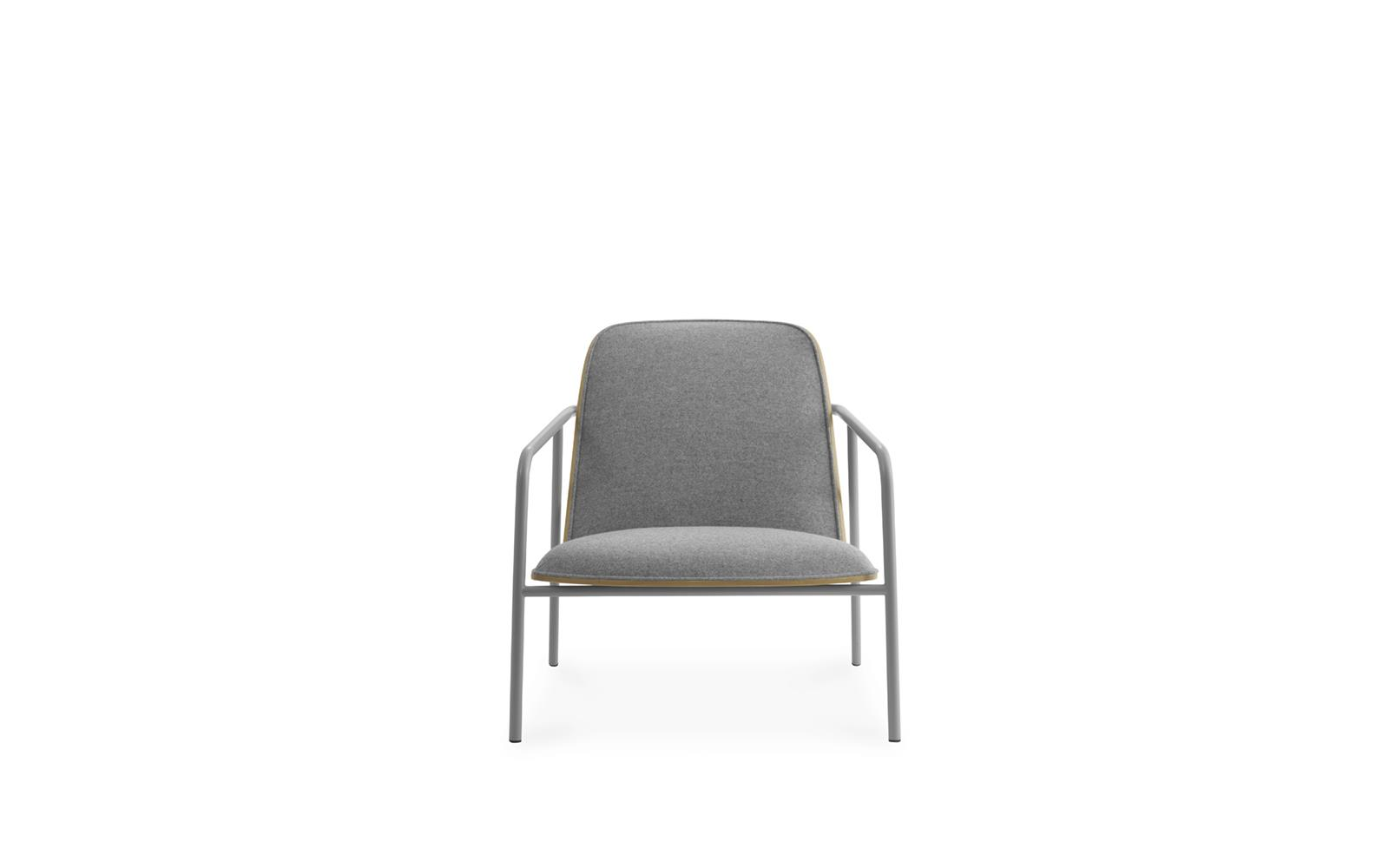 Pad Lounge Chair Low Grey Steel2