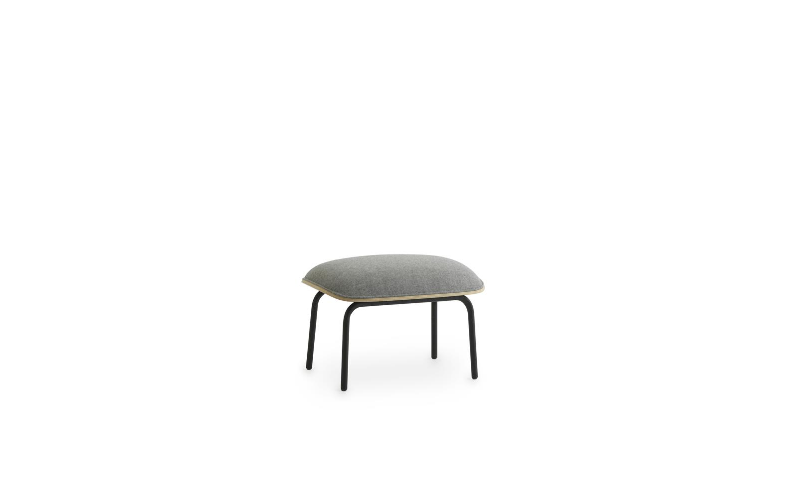 Pad Footstool Black Steel1
