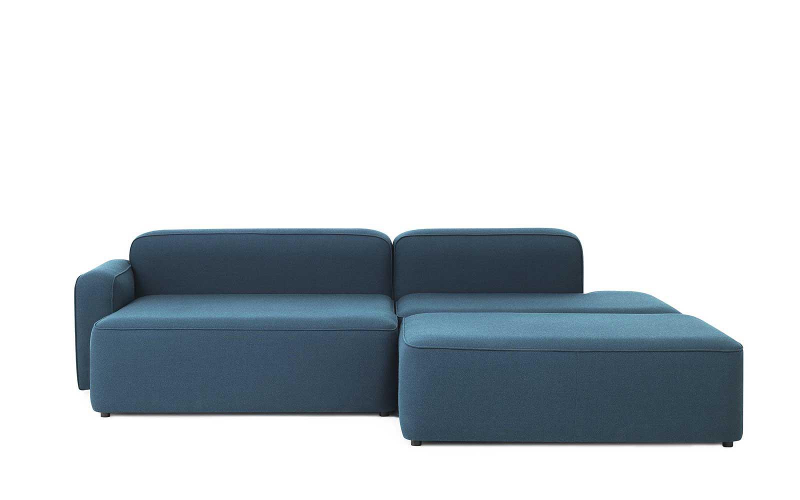 meilleur service 7ba19 99c96 Rope Sofa Chaise Longue left with Pouf Fame Hybrid