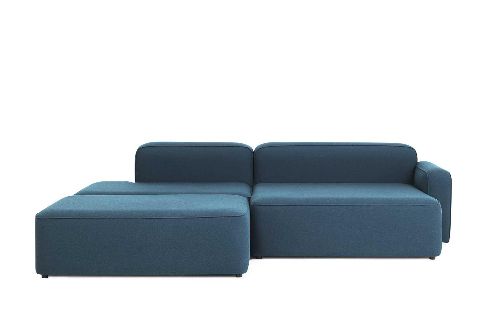 Rope Sofa Chaise Lounge right with Pouf3