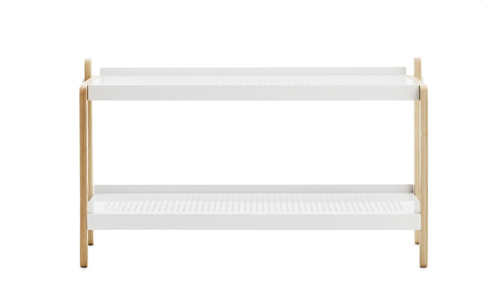 white shoe rack Sko Shoe Rack in white | Industrial design shoe storage white shoe rack