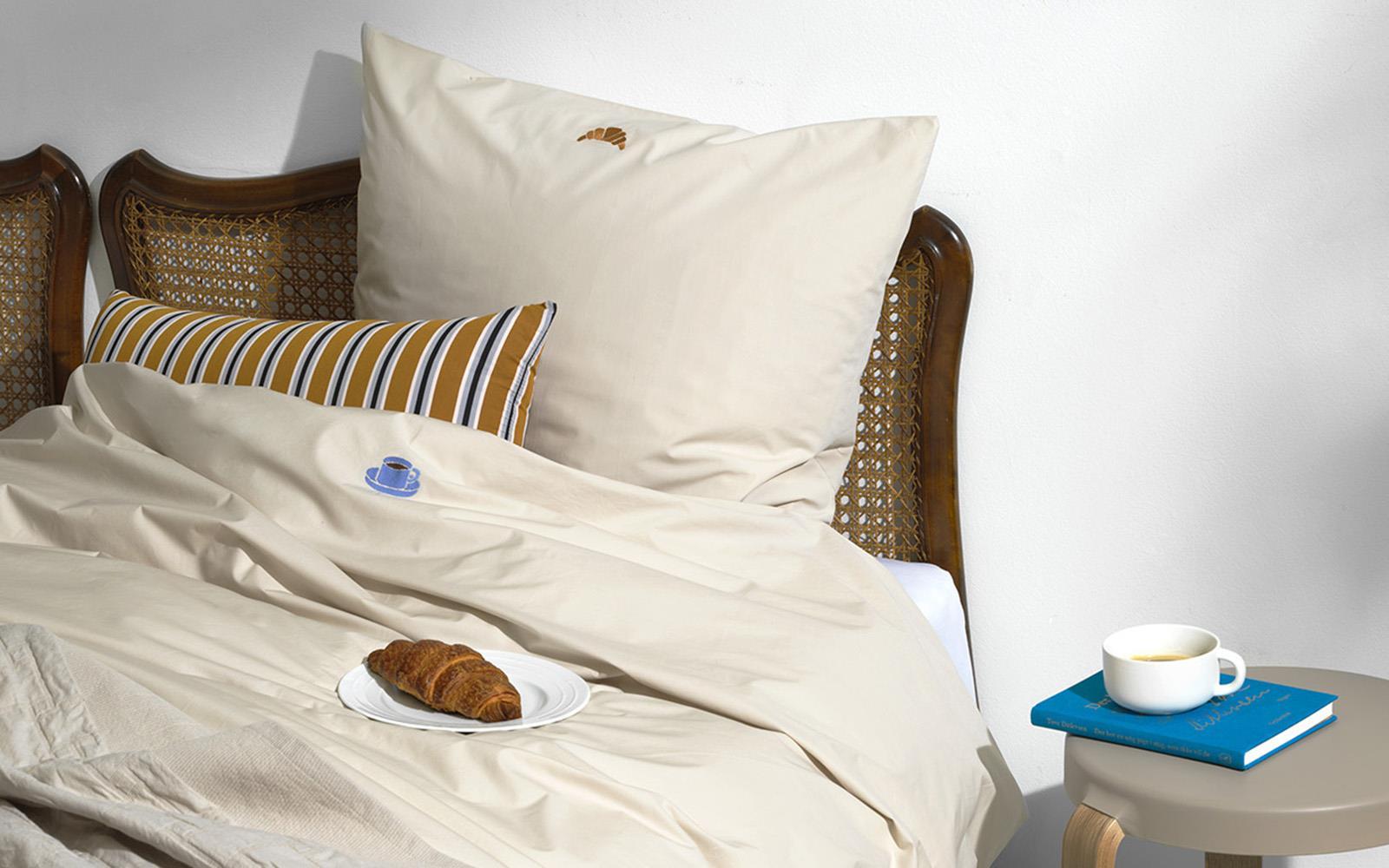Picture of: Snooze Sengesaet 140×200 Lazy Morning Varm Gra