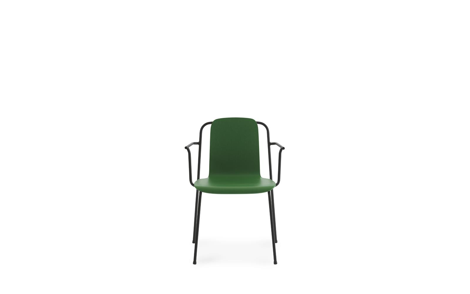 Studio Armchair Black Steel2