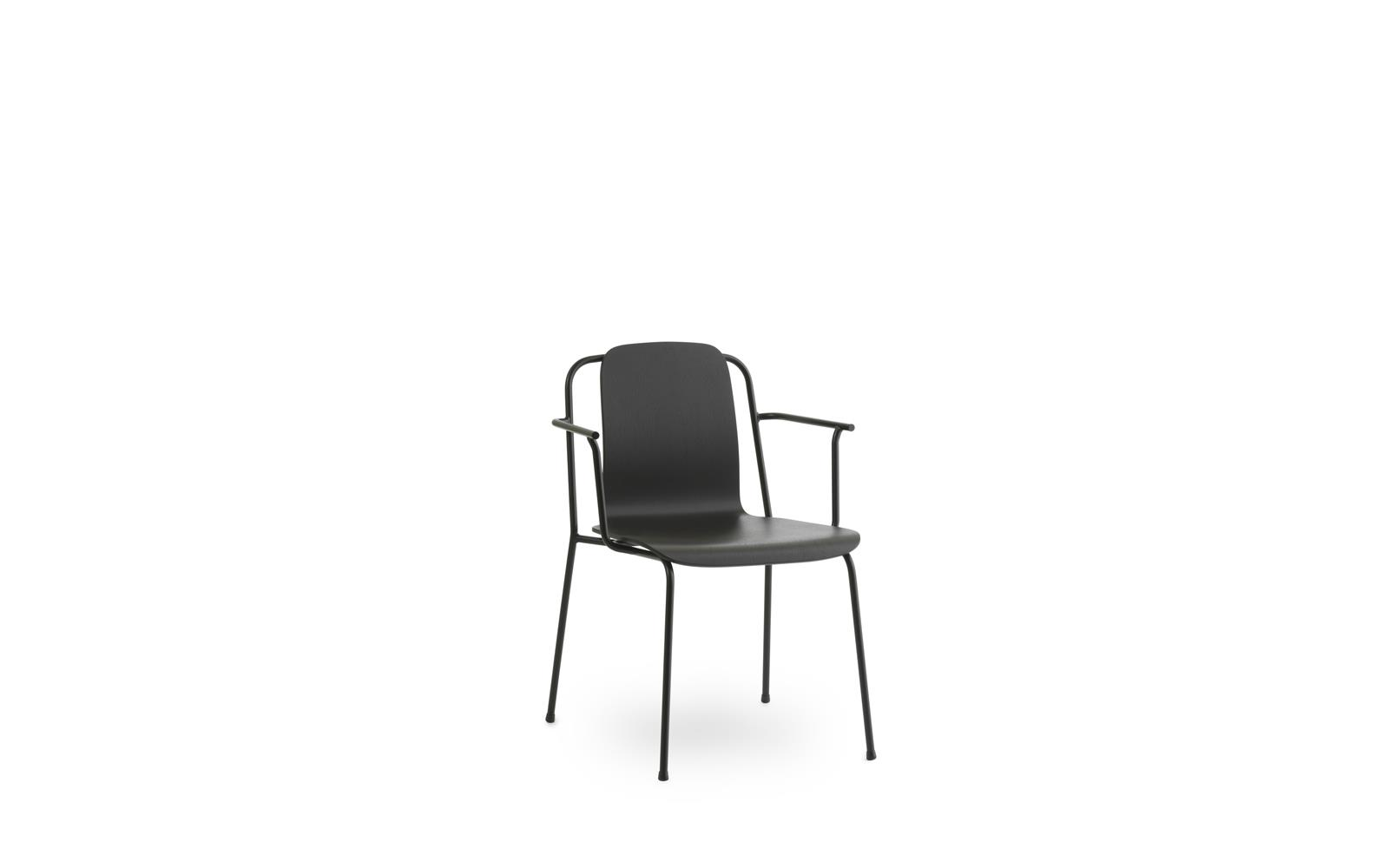 Studio Armchair Black Steel1
