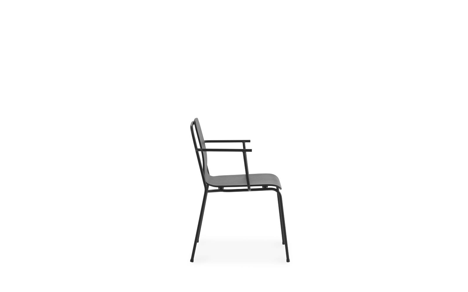 Studio Armchair Black Steel3