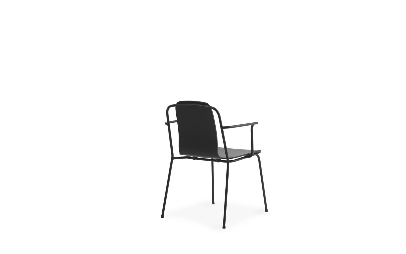 Studio Armchair Black Steel4