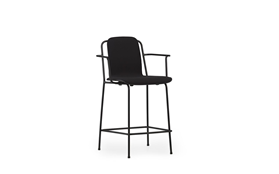 Studio Bar Armchair 65 cm Front Uph Black Steel1