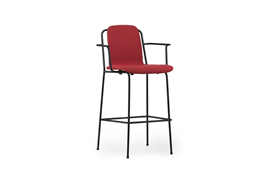 Studio Bar Armchair 75 cm Full Uph Black Steel1