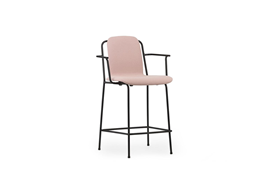Studio Bar Armchair 65 cm Full Uph Black Steel1
