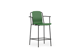 Studio Bar Armchair 65 cm Black Steel1