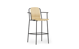 Studio Bar Armchair 75 cm Black Steel1