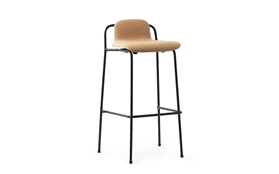 Studio Barstool 75 cm Full Upholstery Black Steel1