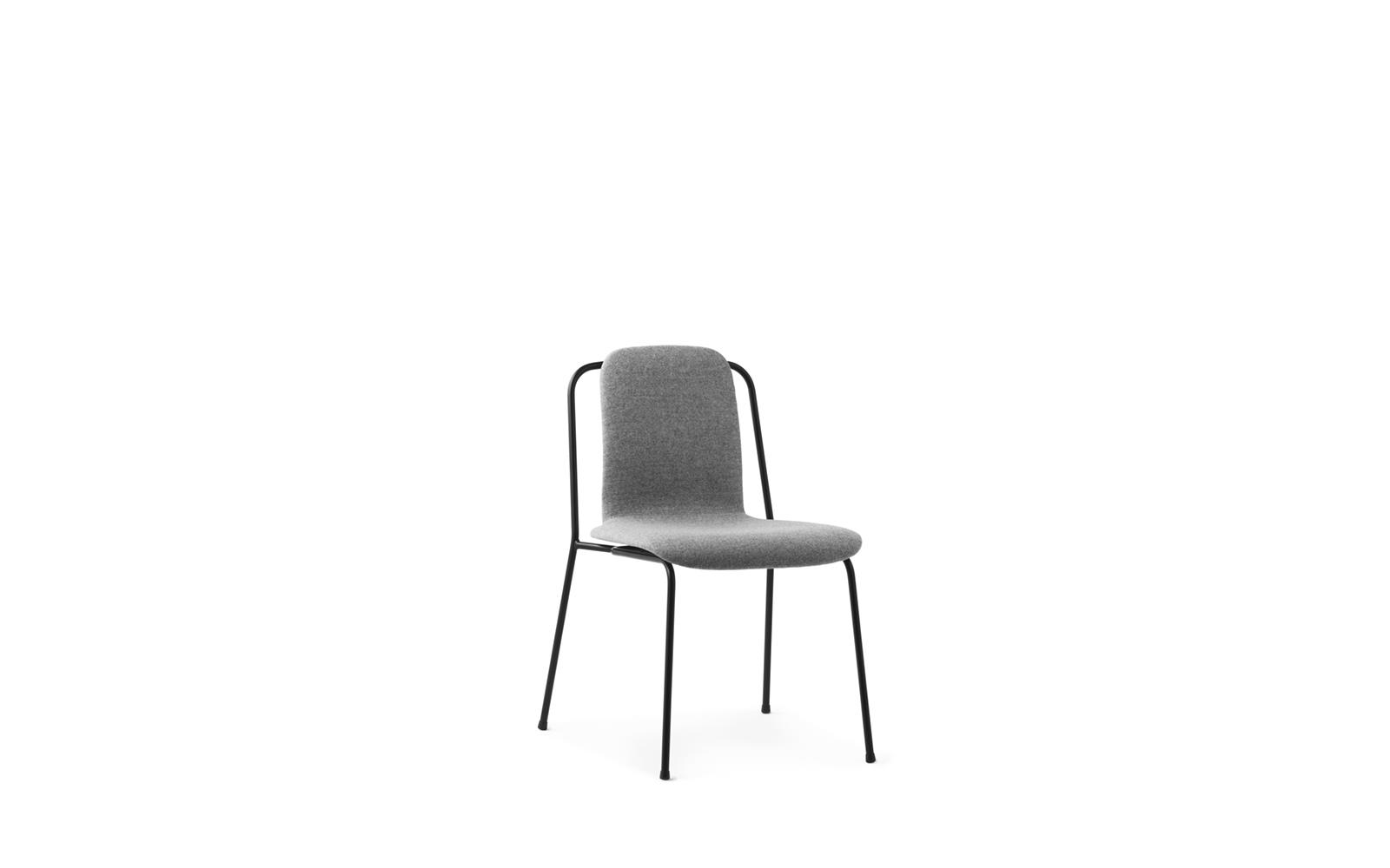 Studio Chair Full Upholstery Black Steel1