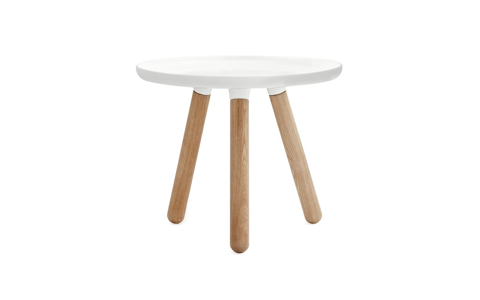 Tablo Table A Minimalistic Coffee Table In White With Legs Of Ash