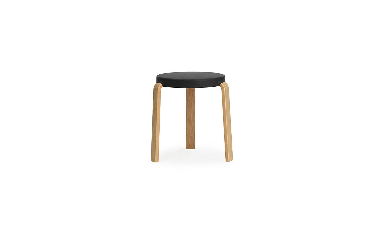Outstanding Tap Stool Oak Black Inzonedesignstudio Interior Chair Design Inzonedesignstudiocom