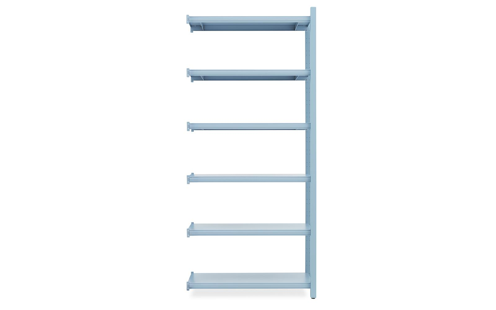 Work Bookcase High 2 Pillar Powder Blue