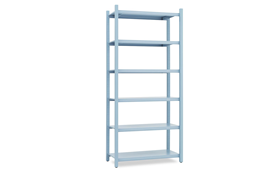 Work Bookcase High 4 Pillar1