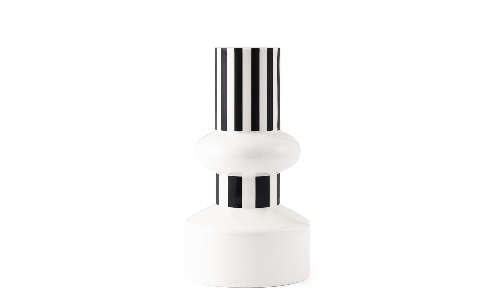 Funfair Vase ø 16 X H 28 Cm Schwarz
