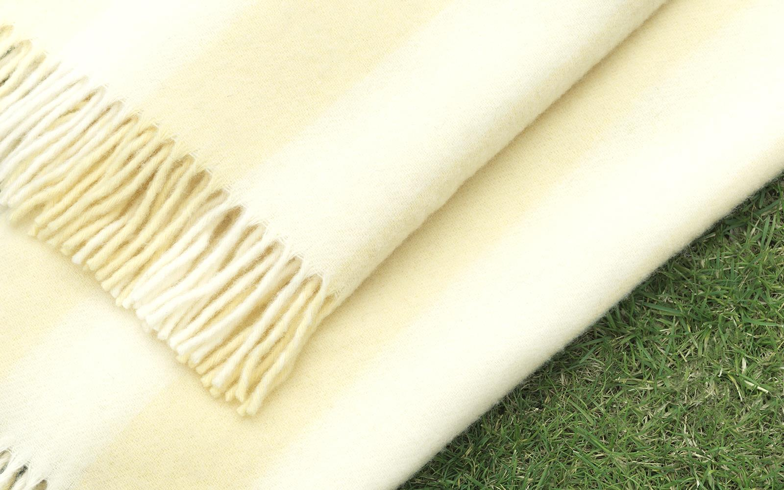 c60237ab90 Throw Blanket Candy Stripe Pale Yellow