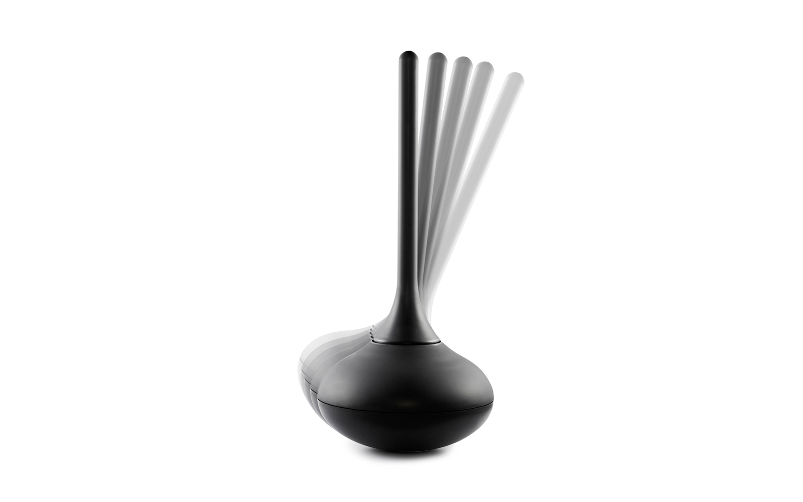 Ballo toilet brush front black