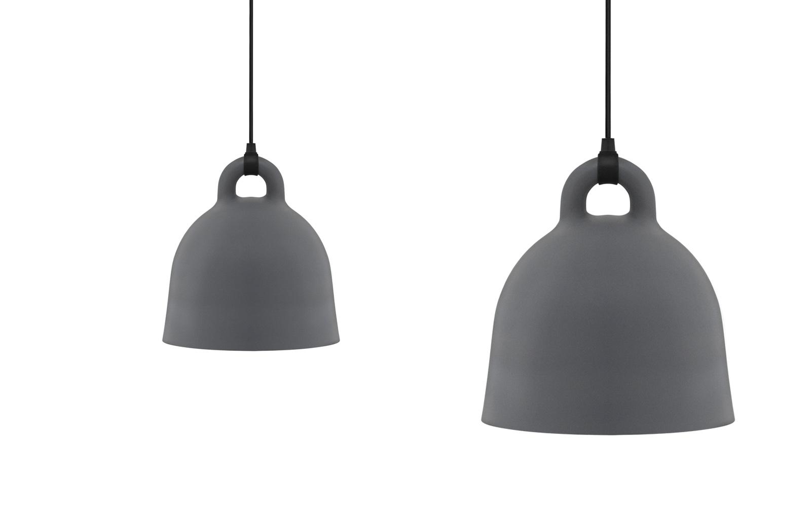Beautiful Bell Lamp Grey Design