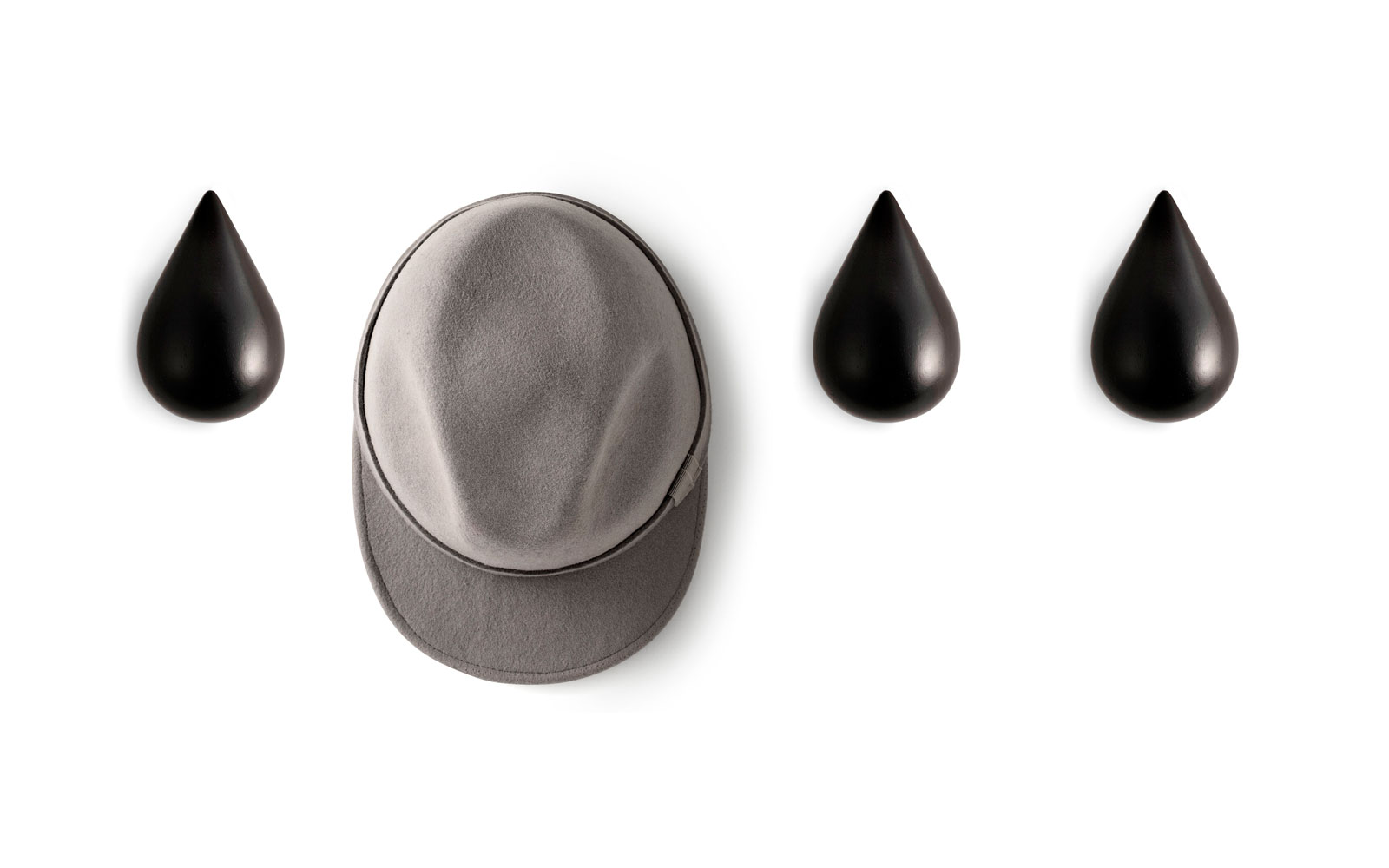 Dropit hooks black function wall hanging hat group