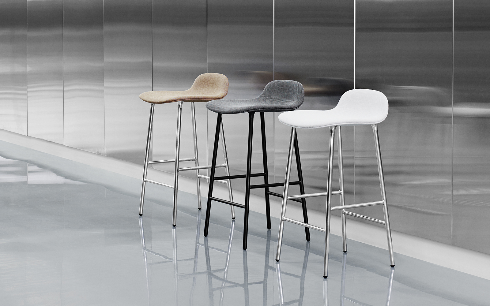Form Barstool Molded Plastic Shell Chair With Oak Legs