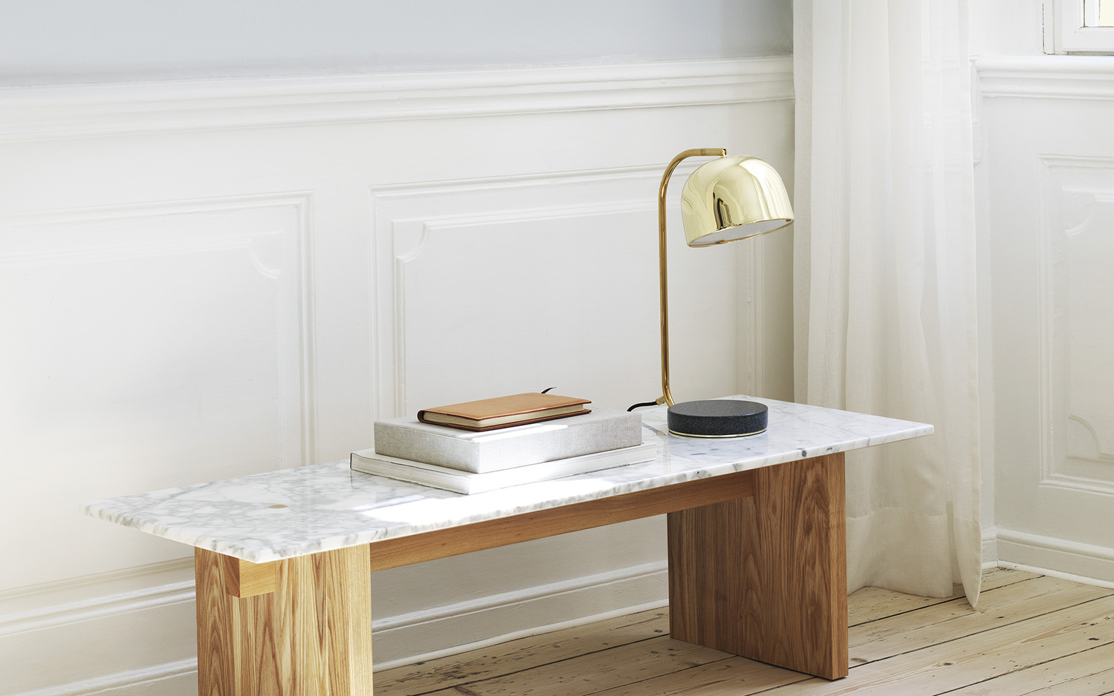 Grant Table Lamp Brass | Normann Copenhagen