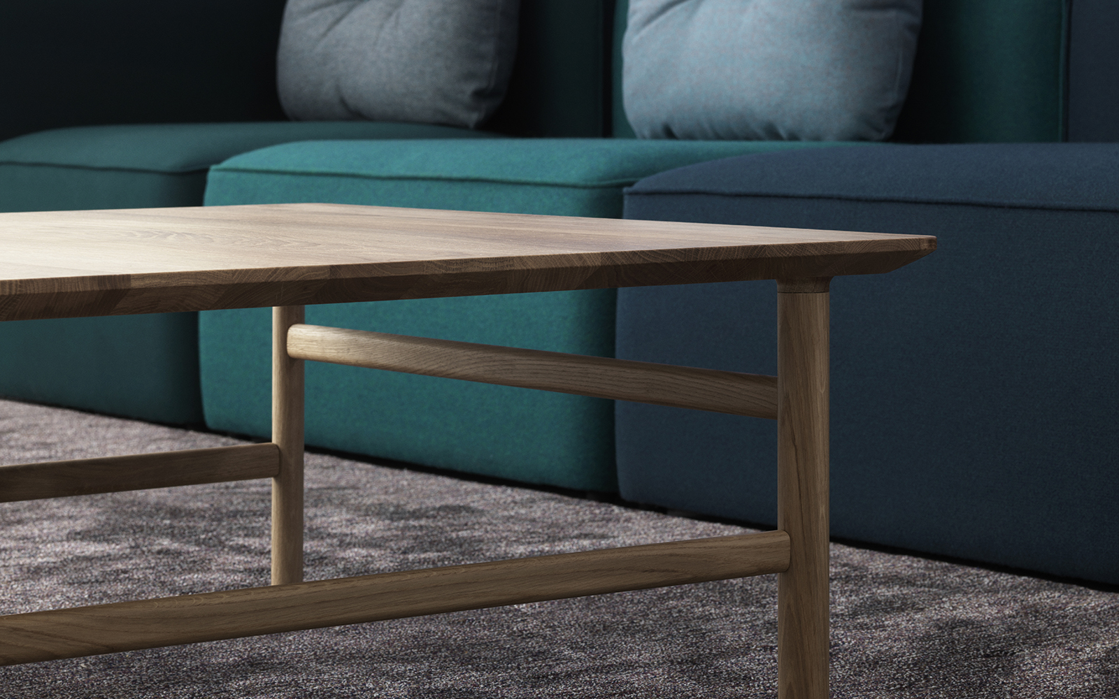 grow coffee table timeless danish design in stained oak