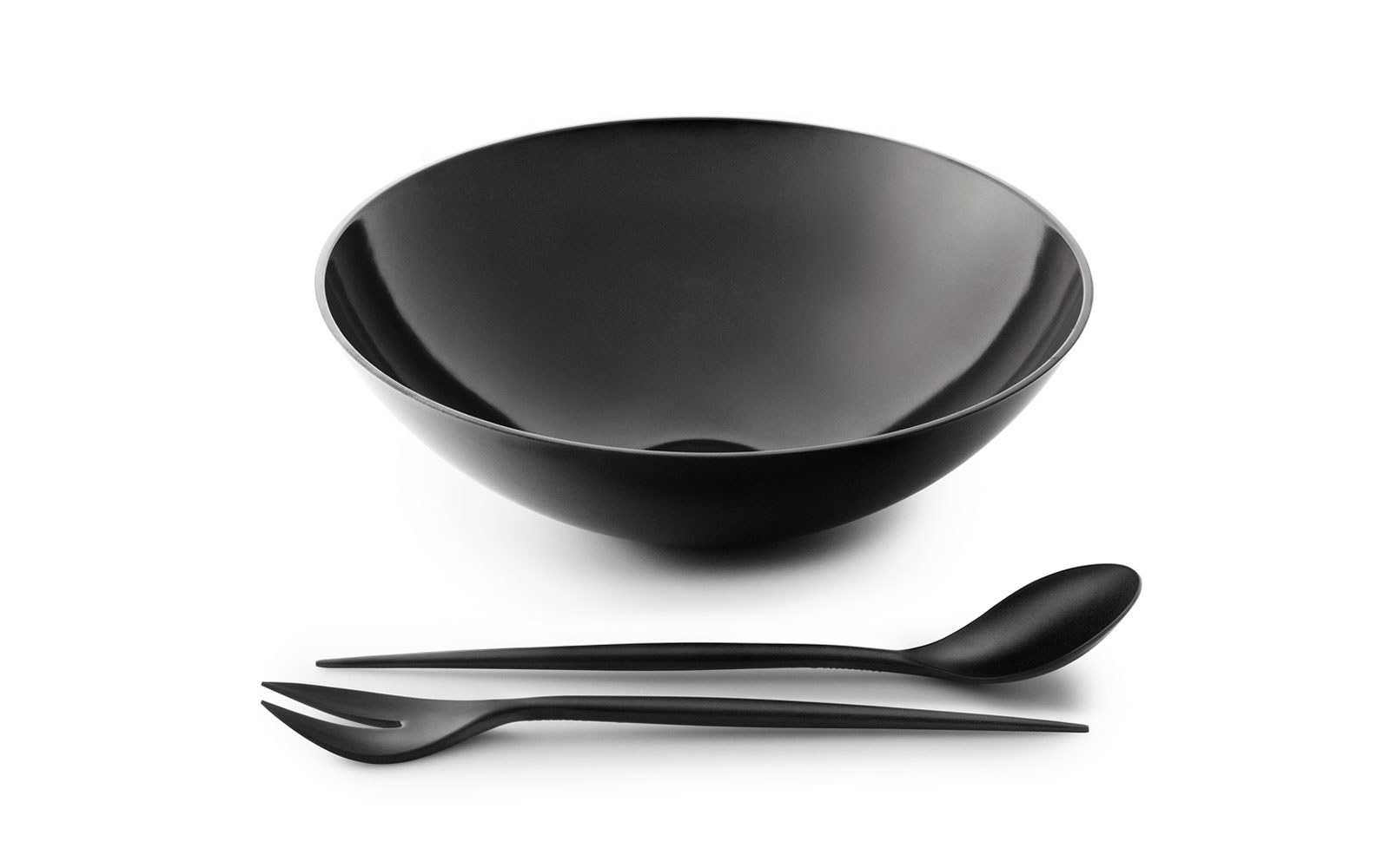 Krenit salad set and salad bowl black