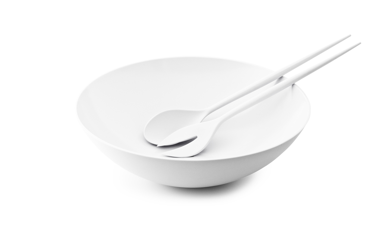 Krenit salad set and salad bowl white
